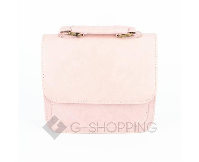 Женская маленькая розовая сумка кросс-боди на магнитной застежке c083 Kingth Goldn, фото 6
