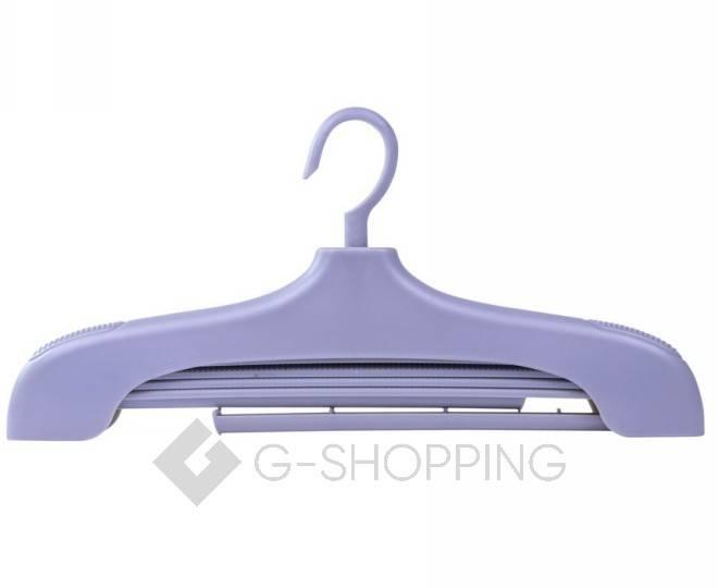 Многофункциональная раздвижная вешалка для одежды серая YJ29-23 Удачная покупка, фото 2