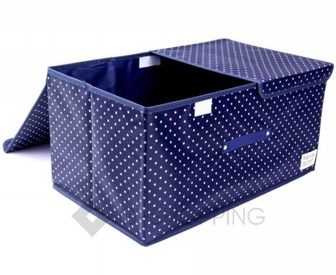 Объемный текстильный ящик для хранения с 2мя отсеками синий RYP102-06-M Удачная покупка, фото 1