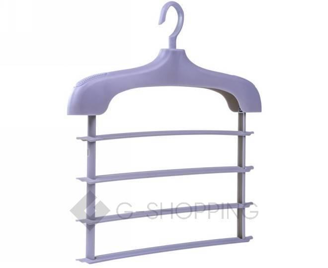 Многофункциональная раздвижная вешалка для одежды серая YJ29-23 Удачная покупка, фото 1