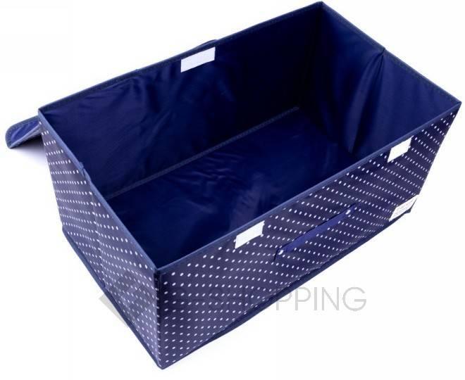 Объемный текстильный ящик для хранения с 2мя отсеками синий RYP102-06-M Удачная покупка, фото 4