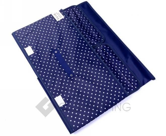Объемный текстильный ящик для хранения с 2мя отсеками синий RYP102-06-M Удачная покупка, фото 2