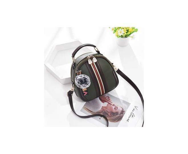Женская повседневная сумка хаки среднего размера на молнии C111-21, фото 3