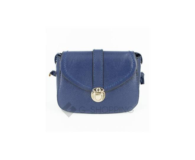 Женская синяя сумка кросс-боди с портфельной застежкой C148-05 Kingth Goldn, фото 6