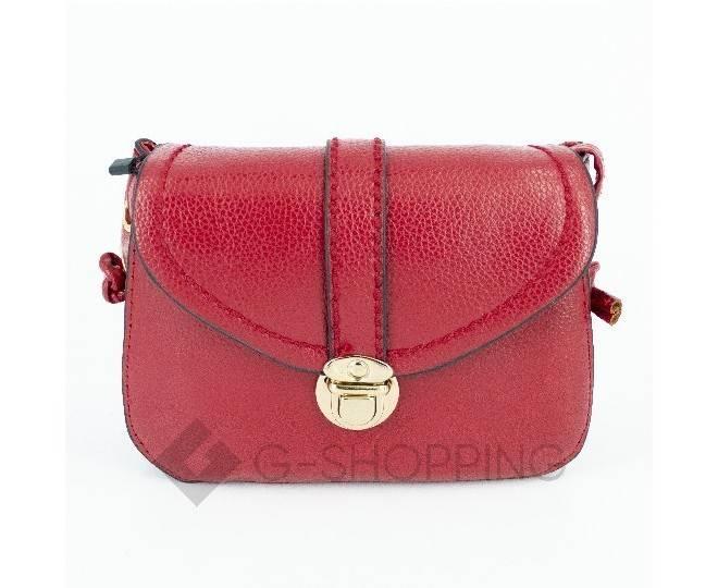 Женская красная сумка кросс-боди с портфельной застежкой Kingth Goldn, фото 6