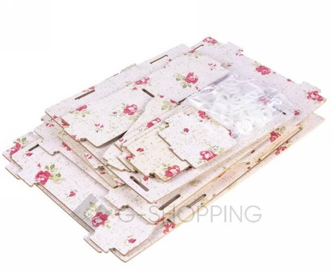 Розовый настольный комод для хранения косметики DIY, фото 2