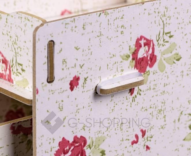 Розовый настольный комод для хранения косметики DIY, фото 4