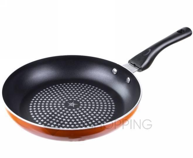 Сковорода JG-0228 оранжевая 28 см USLANBFAY, фото 1