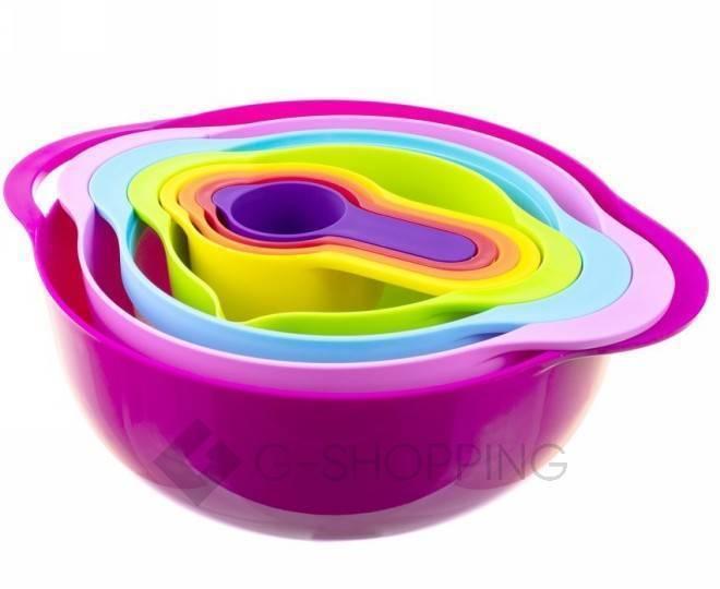 Набор мисок разноцветных RYP-04 USLANBFAY 8 штук, фото 1