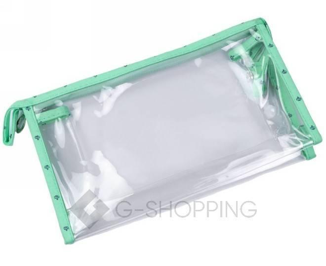 Комплект женских косметичек зеленый из трех удобных сумочек разного размера, фото 2