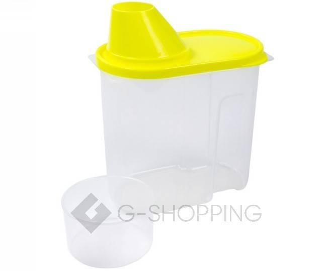 Банка для продуктов маленькая RYP-13 желтая 1,9 л  USLANBFAY, фото 2