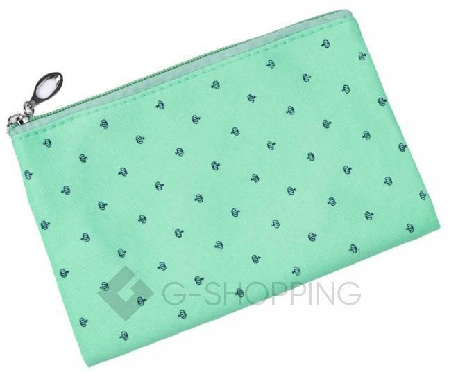 Комплект женских косметичек зеленый из трех удобных сумочек разного размера, фото 3
