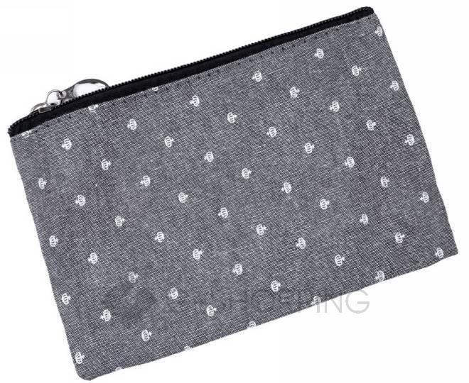 Комплект женских косметичек серый из трех удобных сумочек разного размера, фото 3
