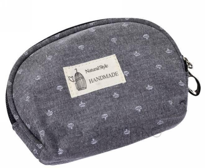 Комплект женских косметичек серый из трех удобных сумочек разного размера, фото 4