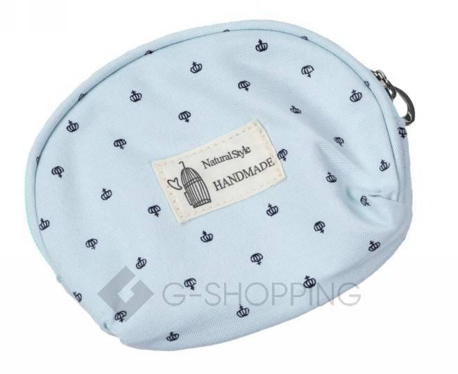 Комплект женских косметичек бирюзовый из трех удобных сумочек разного размера, фото 4