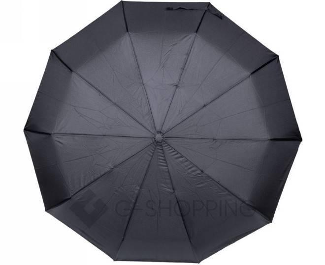 Стильный складной черный зонт 105 см, фото 4