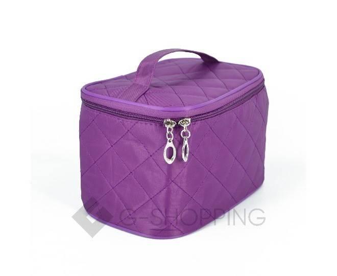 Косметичка женская пурпурная на молнии с зеркальцем, фото 7