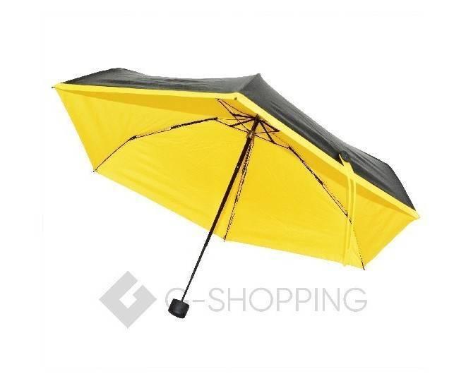 Стильный складной желтый зонт 90 см YS01-21  Удачная покупка, фото 3