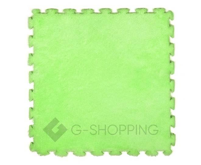 Мягкий коврик пазл Meitoku зеленый 9 деталей, фото 1