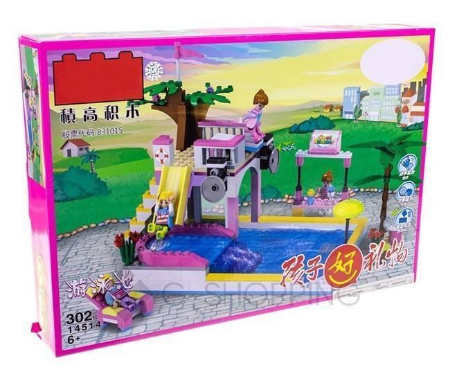 """Детская пластмассовая игра конструктор для мальчиков и девочек """"Вилла и пальмы"""" WJ0017 Dolemikki, фото 2"""