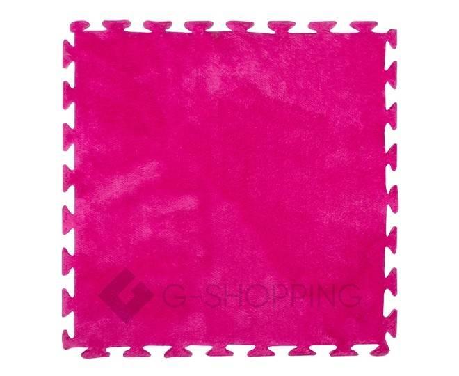 Мягкий коврик пазл розово-красный MEITOKU 9 шт, фото 1