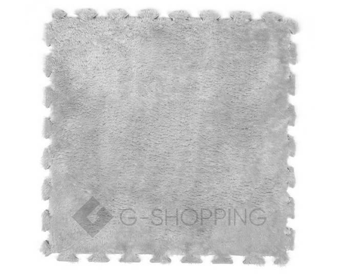 Мягкий коврик пазл Meitoku серый 9 деталей, фото 1