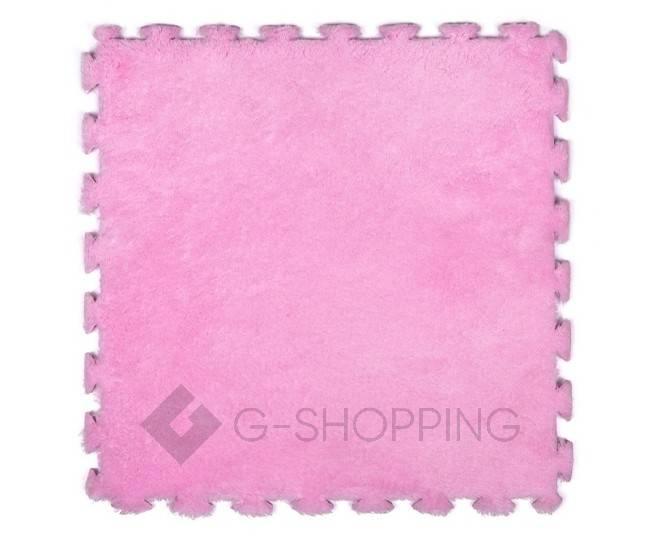 Мягкий коврик пазл  Meitoku розовый 9 деталей, фото 1