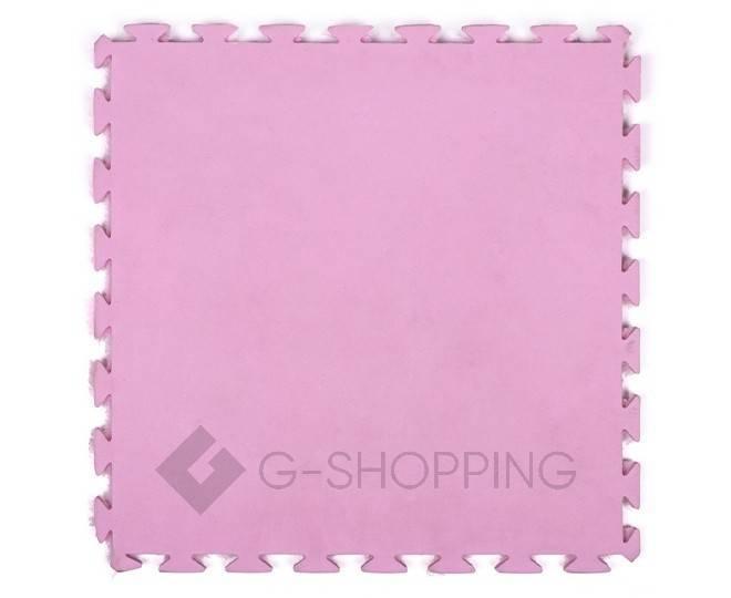 Мягкий коврик пазл  Meitoku розовый 9 деталей, фото 2