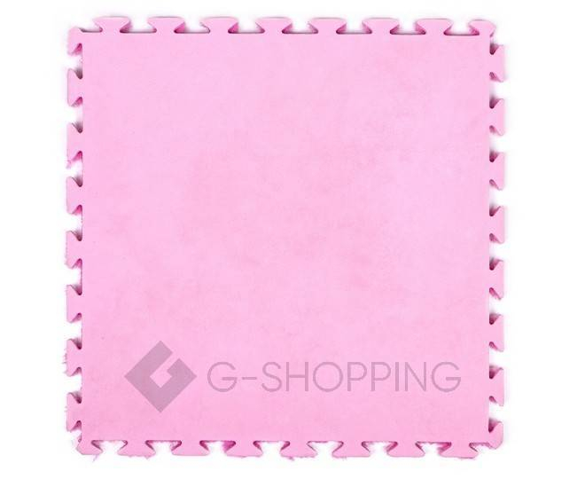 Мягкий коврик пазл розово-красный MEITOKU 9 шт, фото 2
