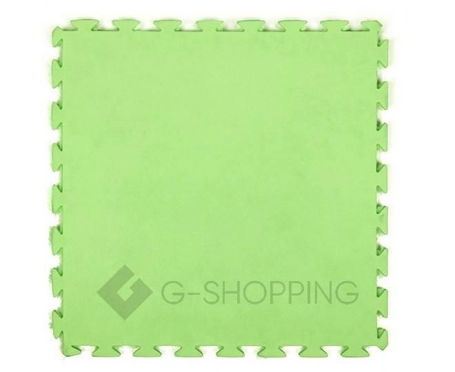 Мягкий коврик пазл Meitoku зеленый 9 деталей, фото 2