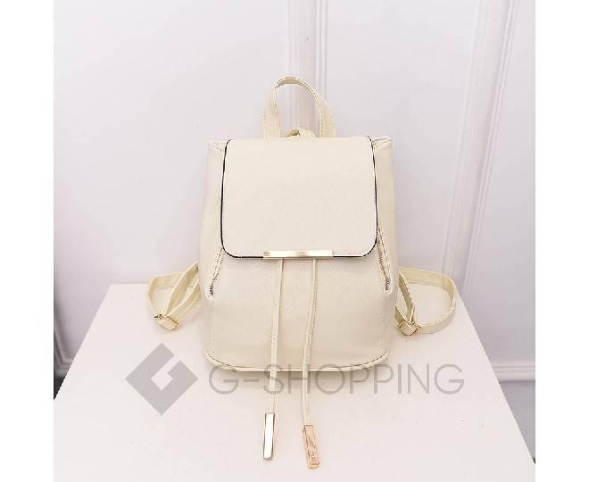 Женский рюкзак из экокожи молочно-белый C107-02 Kingth Goldn, фото 4