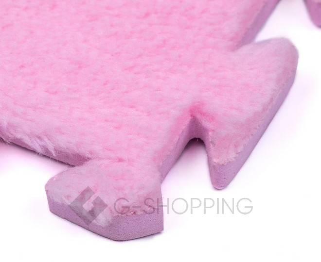 Мягкий коврик пазл  Meitoku розовый 9 деталей, фото 3