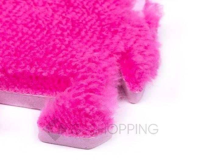 Мягкий коврик пазл розово-красный MEITOKU 9 шт, фото 3