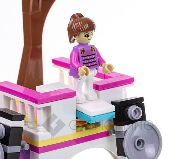 """Детская пластмассовая игра конструктор для мальчиков и девочек """"Вилла и пальмы"""" WJ0017 Dolemikki, фото 3"""