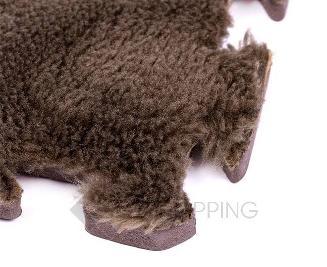 Мягкий коврик пазл  Meitoku кофейный 9 деталей, фото 3