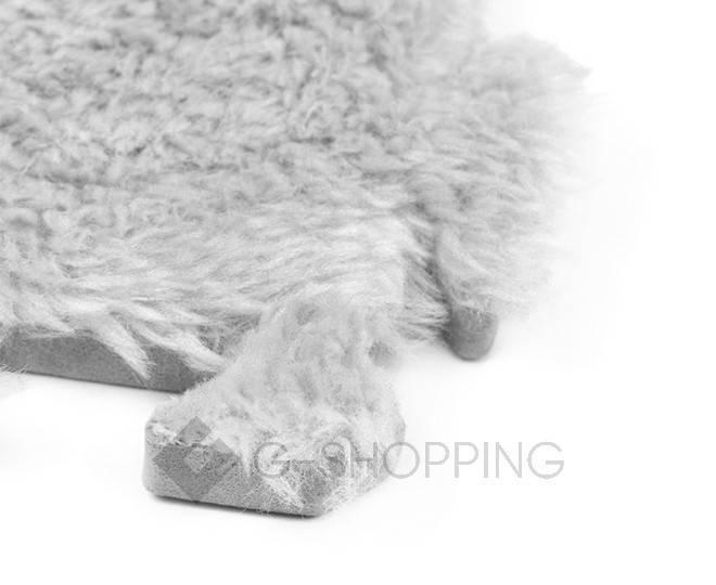 Мягкий коврик пазл Meitoku серый 9 деталей, фото 3