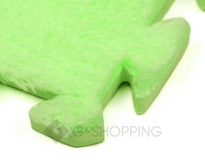 Мягкий коврик пазл Meitoku зеленый 9 деталей, фото 3