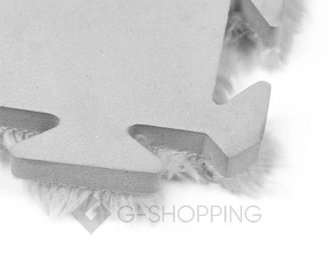 Мягкий коврик пазл Meitoku серый 9 деталей, фото 4