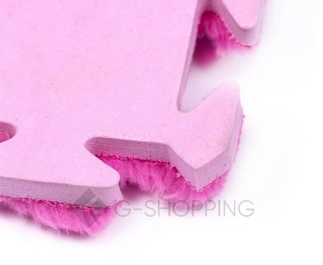 Мягкий коврик пазл розово-красный MEITOKU 9 шт, фото 4