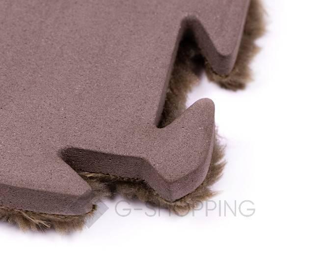 Мягкий коврик пазл  Meitoku кофейный 9 деталей, фото 4
