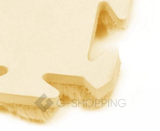 Мягкий коврик пазл желтый MEITOKU 9 шт, фото 3