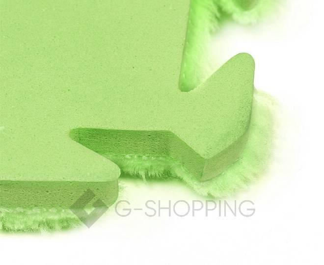 Мягкий коврик пазл Meitoku зеленый 9 деталей, фото 4