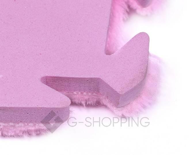 Мягкий коврик пазл  Meitoku розовый 9 деталей, фото 4