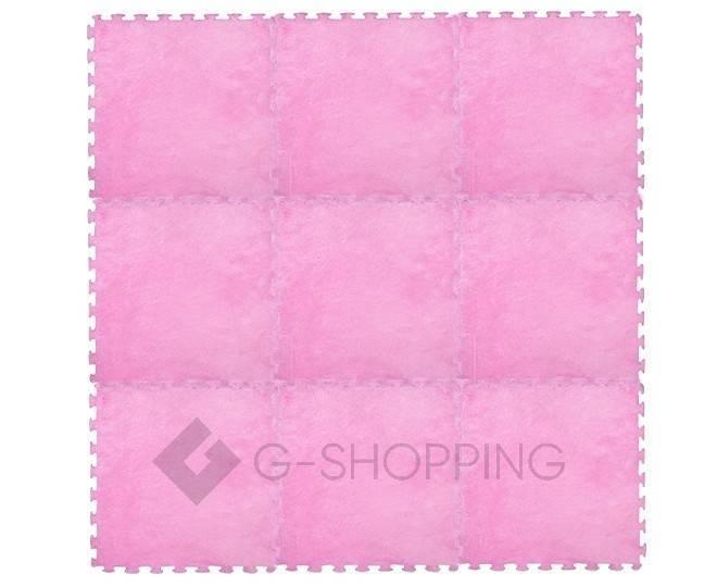 Мягкий коврик пазл  Meitoku розовый 9 деталей, фото 5