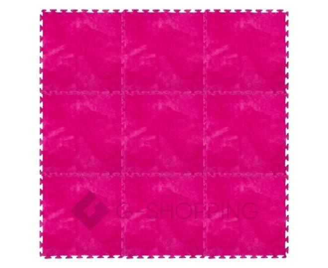 Мягкий коврик пазл розово-красный MEITOKU 9 шт, фото 5