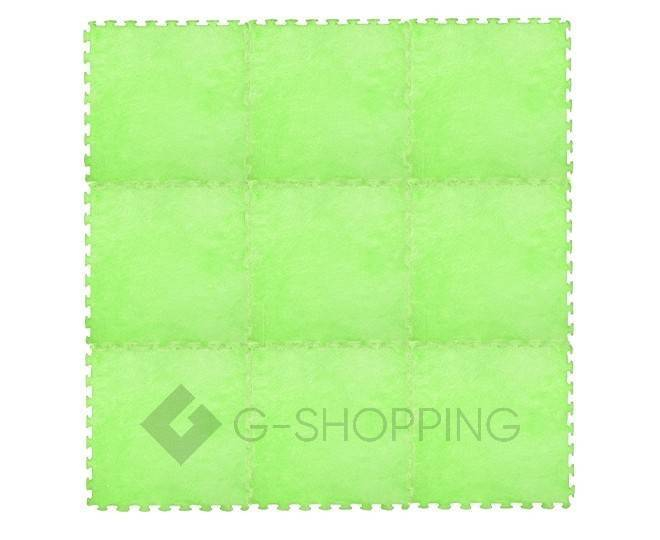 Мягкий коврик пазл Meitoku зеленый 9 деталей, фото 5