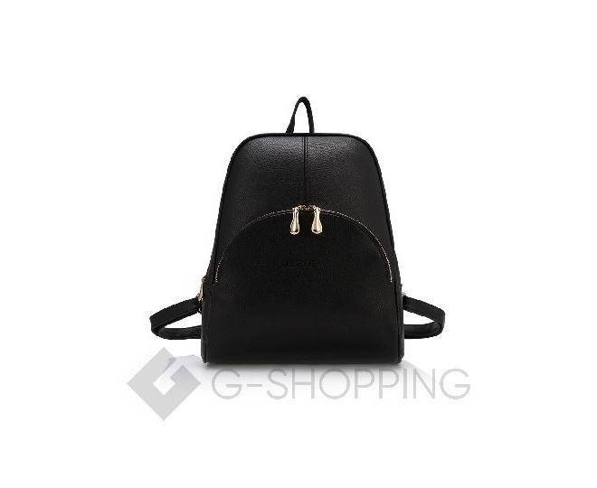 Удобный женский рюкзак черный на молнии KINGTH GOLDN, фото 4