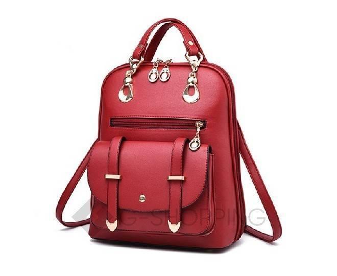 Рюкзак женский красный C110-09, фото 4