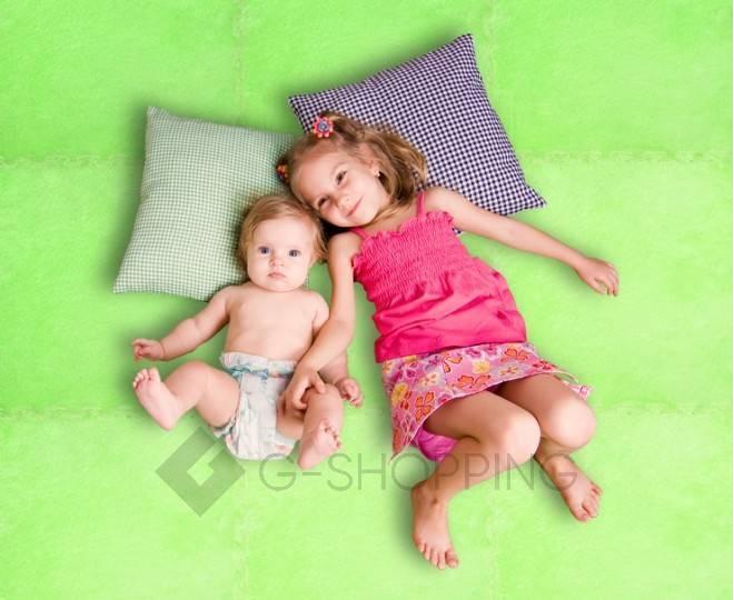 Мягкий коврик пазл Meitoku зеленый 9 деталей, фото 6