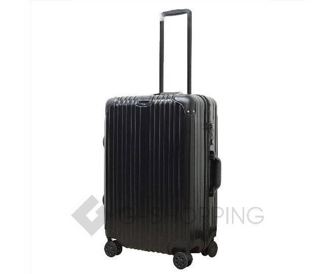 Пластиковый чемодан на колесиках черный DL072 3,4кг, фото 3